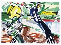 the sower (from the landscape series) by roy lichtenstein