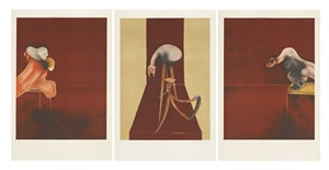 second version, triptych 1944 by francis bacon