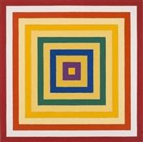 scramble: ascending spectrum/ ascending yellow values by frank stella