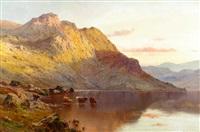 sunset over loch awe by alfred de breanski sr