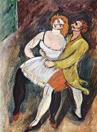 two dancers – russian ballet by max weber