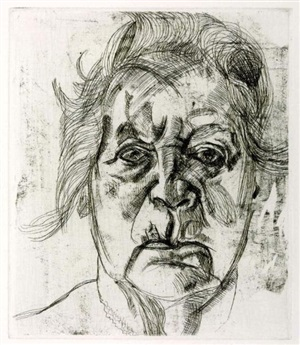 the painter's mother by lucian freud
