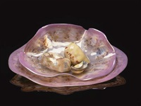 rhodonite golden pink macchia set by dale chihuly