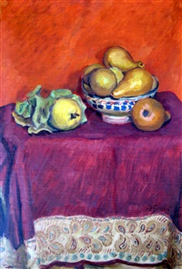 still life with pears by duncan grant