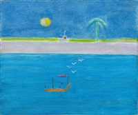 indian painting 7 by craigie aitchison