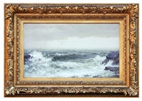 clearing storm at the shore by william trost richards