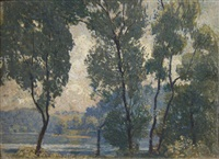 sketch for summer morning by daniel garber