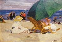 the green umbrella by edward henry potthast