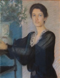 lady in black by lilla cabot perry