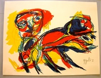figure with animal by karel appel