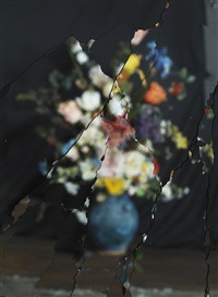 on reflection, material e07 (after j. brueghel the elder) by ori gersht