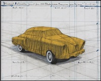 wrapped automobile (project for 1950 studebaker champion, series 9 g coupe by christo and jeanne-claude