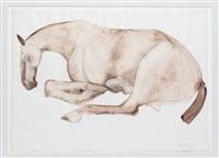 untitled (lying down horse) by elisabeth frink