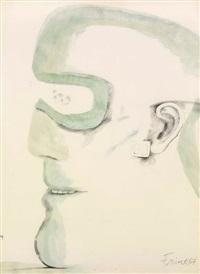 goggle head by elisabeth frink