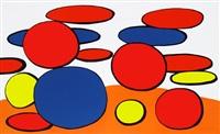 bulles rouge et blue (red and blue bubbles) by alexander calder
