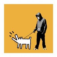 choose your weapon (light orange) by banksy