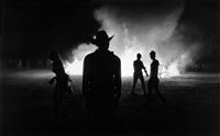 untitled (burning man) by robert longo