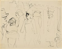 new york, manhattan by george grosz