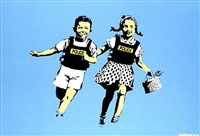 jack and jill (police kids) by banksy