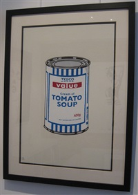 soup can (original colour way, signed) by banksy