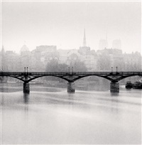 pont des arts, study 3, paris, france, 1987 by michael kenna
