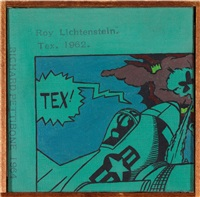 roy lichtenstein – tex.1962 by richard pettibone
