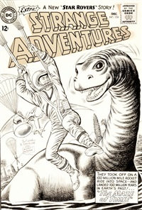 strange adventures #159 cover original art (dc, 1963) by murphy anderson