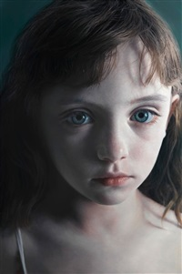 head of a child 15 (molly) by gottfried helnwein