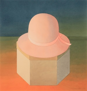 pink felt hat by mark adams