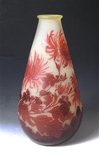 vase mit dahlien (frankreich, nancy) by émile gallé