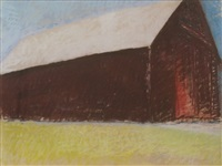 white roof barn by wolf kahn