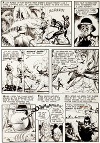 thun'da #1 when the earth shook page 5 original art (magazine enterprises, 1952) by frank frazetta