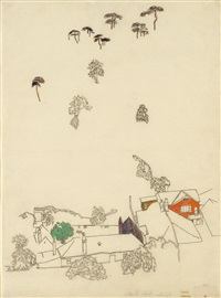 houses and pines by egon schiele