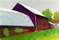 barns in perspective by wolf kahn