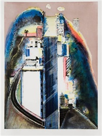 steep street by wayne thiebaud