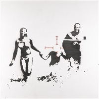 family target (family portrait) by banksy