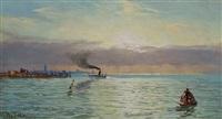 harbor scene, new york by william trost richards