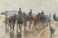 returning from the manoeuvres by george hendrik breitner