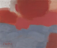 untitled (peach and gray abstraction) by carl robert holty