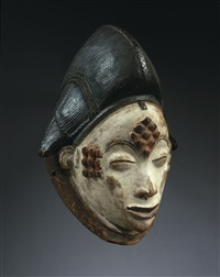 female dance mask 'okuyi' by unknown