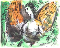 ange au paradis by marc chagall