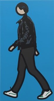 robbie walking 1 by julian opie