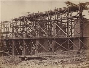construction of a viaduct on rail line of chemin de fer paris-marseille by edouard-denis baldus