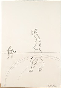 the handstand with girl by alexander calder