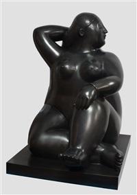 donna seduta by fernando botero