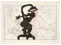 carte de l'europe (shower woman) by william kentridge