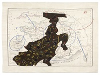 carte de france divisée (dancing lady) by william kentridge