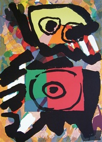 multicolor personage by karel appel