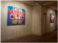 birth hood (installation view at riflemaker, london) by judy chicago