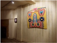 bigamy hood (installation view at riflemaker, london) by judy chicago